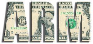 ARM - Adjustable Rate Mortgage. US Dollar texture.